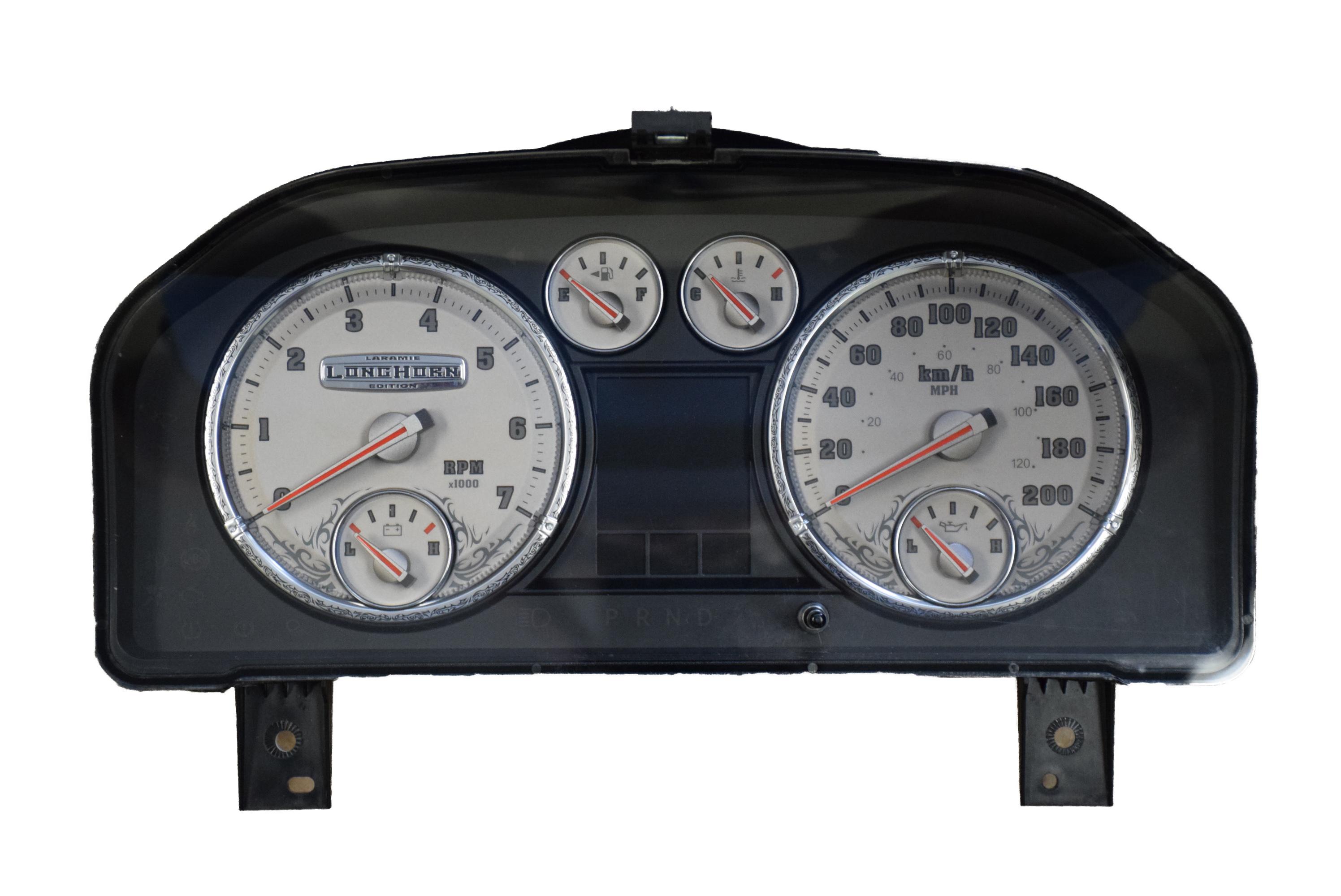 2011 DODGE RAM LARAMIE LONGHORN USED DASHBOARD INSTRUMENT CLUSTER FOR SALE  (KM/H)