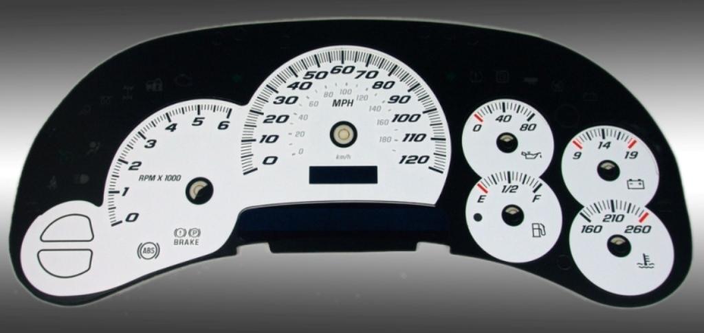 07-13 Silverado Sierra Speedometer gauge face MPH
