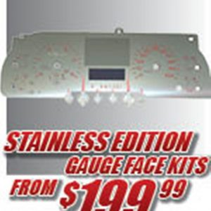 Stainless Edition Gauge Faces