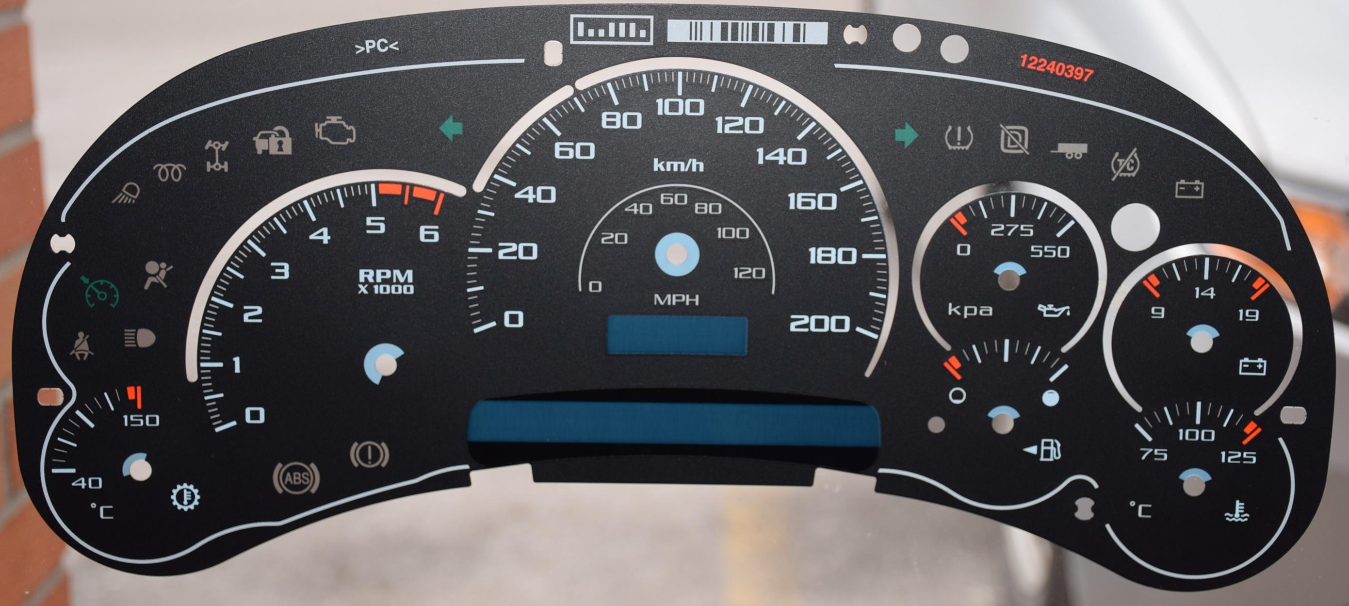 2004 GMC Sierra 2500 Speedometer Instrument Gauge Cluster IPC Repair Rebuild