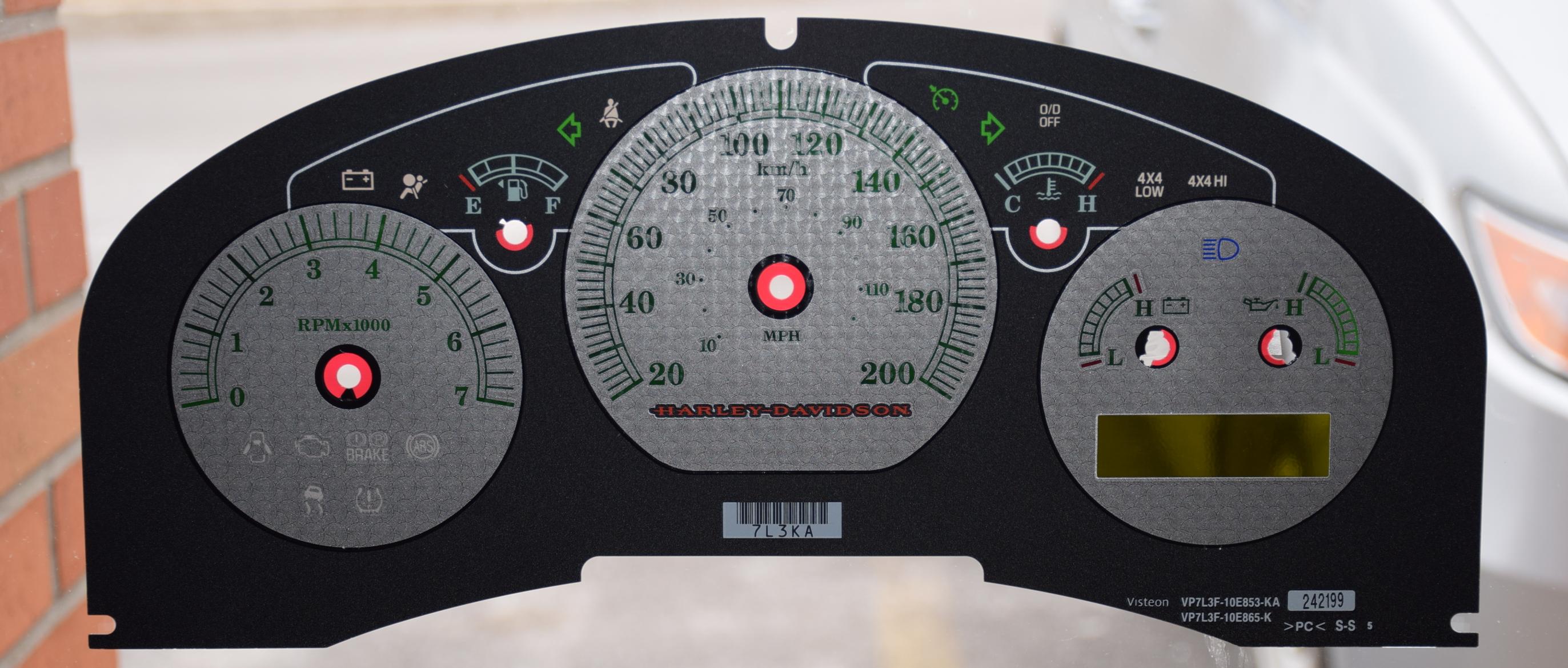 2007 2008 FORD F150 HARLEY DAVIDSON INSTRUMENT CLUSTER GAUGE SPEEDOMETER OEM