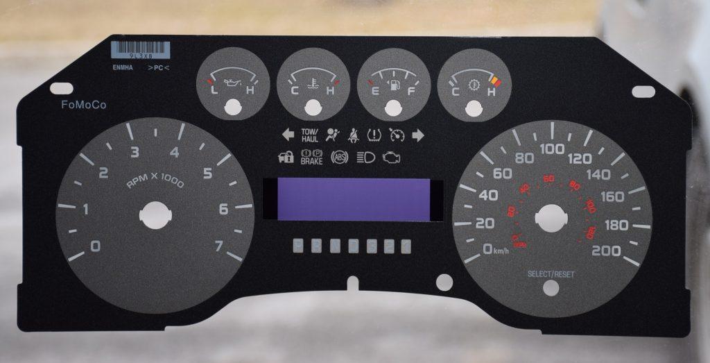 GAUGE OVERLAY FOR 2009- 2010 FORD F150 -XLT KM/ H - DASHBOARD INSTRUMENT  CLUSTER