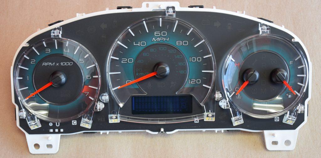gauge overlay for 2010 2011 ford fusion km h dashboard. Black Bedroom Furniture Sets. Home Design Ideas