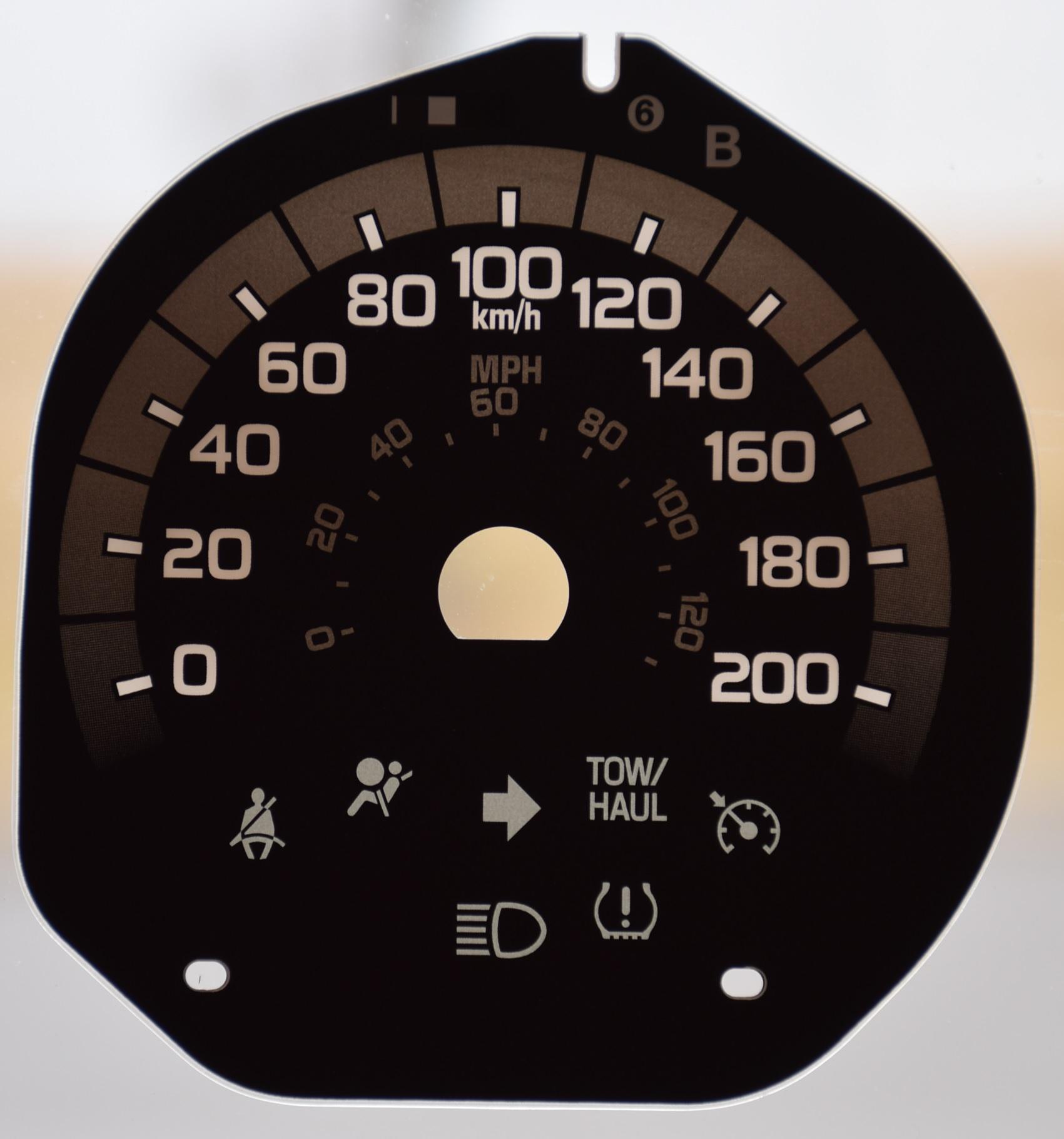 GAUGE OVERLAY FOR 2011- 2015 FORD F250-F350- XLT