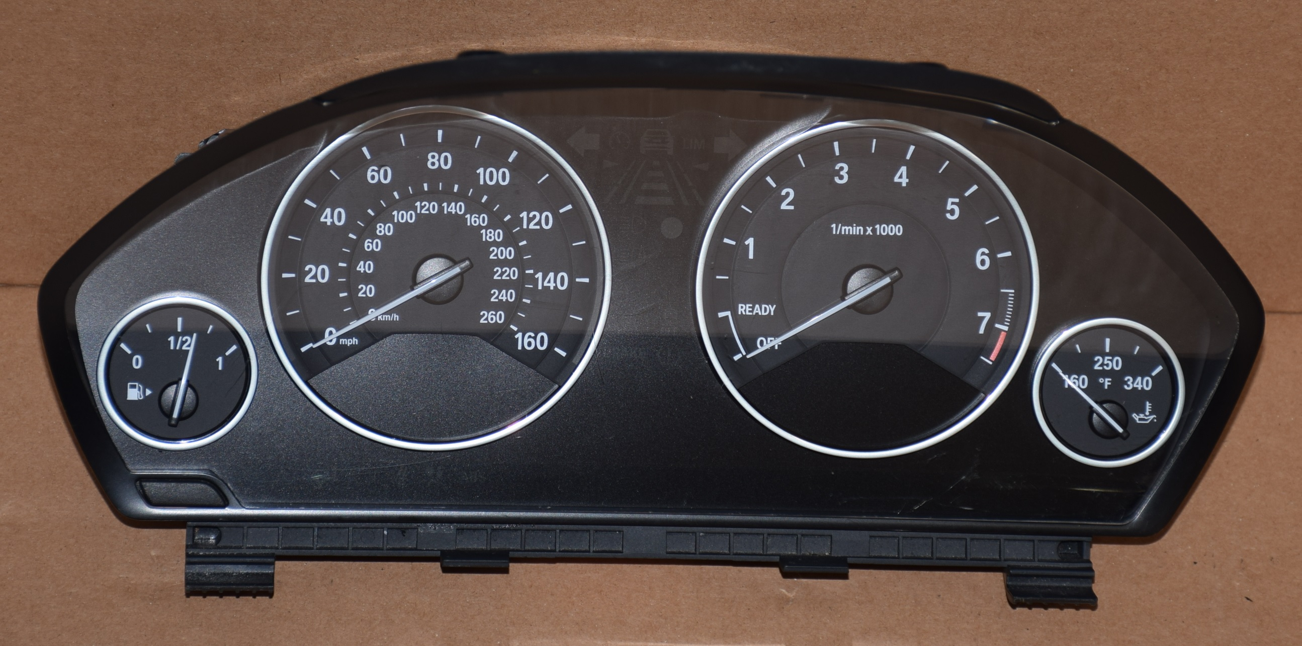 2013-2015 BMW 3 SERIES, 316I, 328I, F30, F80 USED DASHBOARD INSTRUMENT  CLUSTER FOR SALE (MPH)