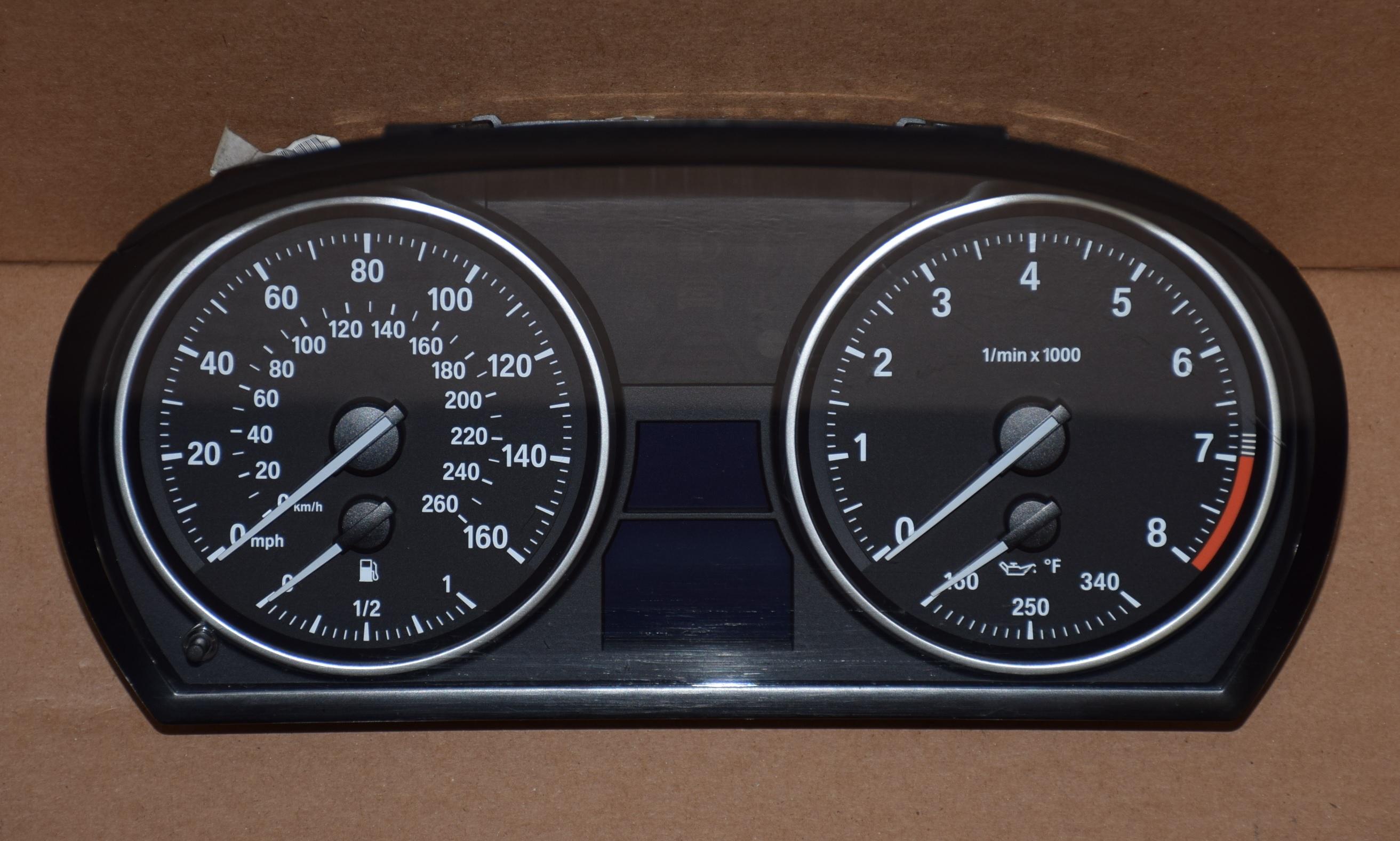 2007-2011 BMW 328I, 335I, E52, E50 USED DASHBOARD INSTRUMENT CLUSTER FOR  SALE (MPH)
