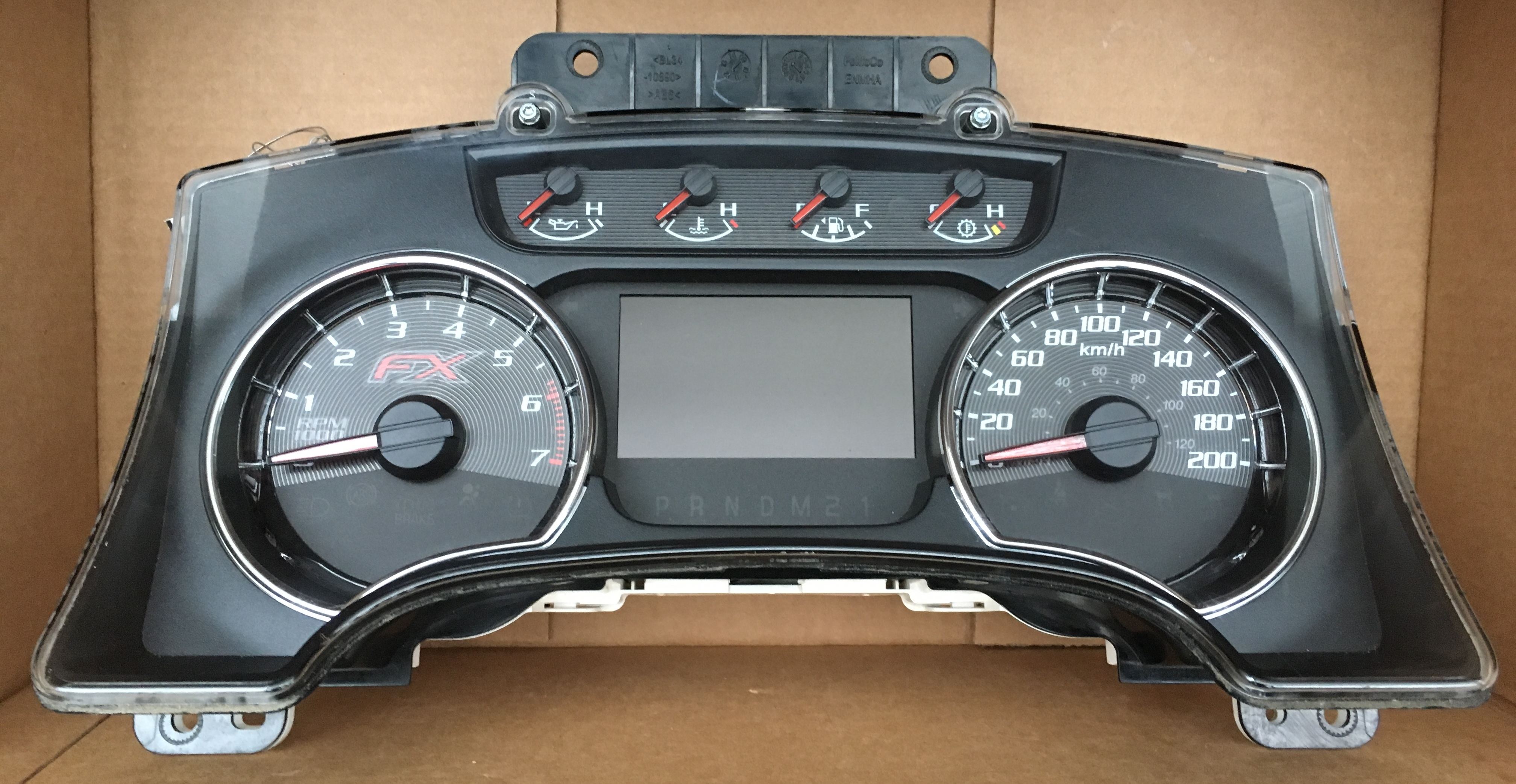 2013 FORD F150 FX2 USED DASHBOARD INSTRUMENT CLUSTER FOR SALE (KM/H)