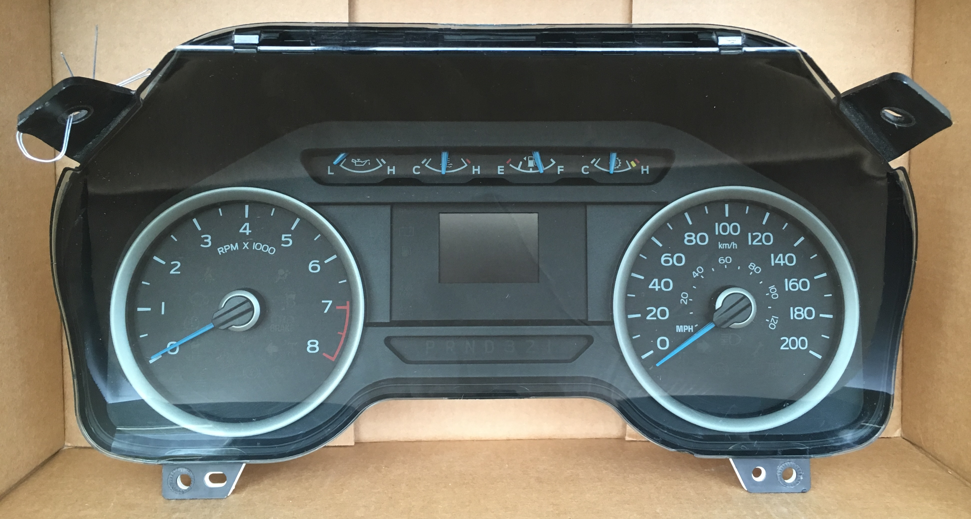 2015 FORD F150 USED DASHBOARD INSTRUMENT CLUSTER FOR SALE (KM/H)