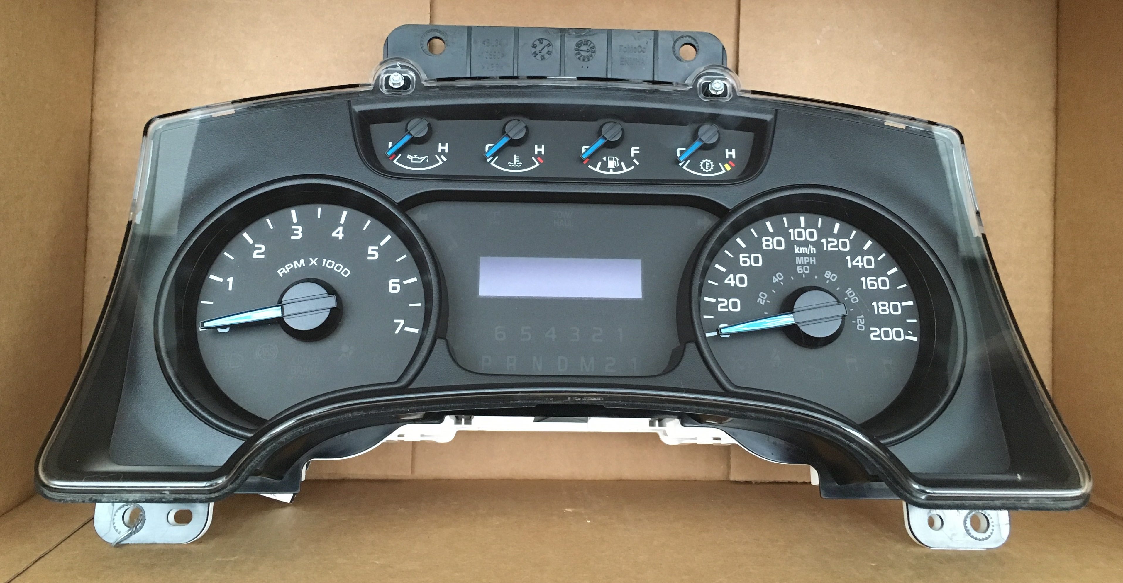 2014 FORD F150 USED DASHBOARD INSTRUMENT CLUSTER FOR SALE (KM/H)