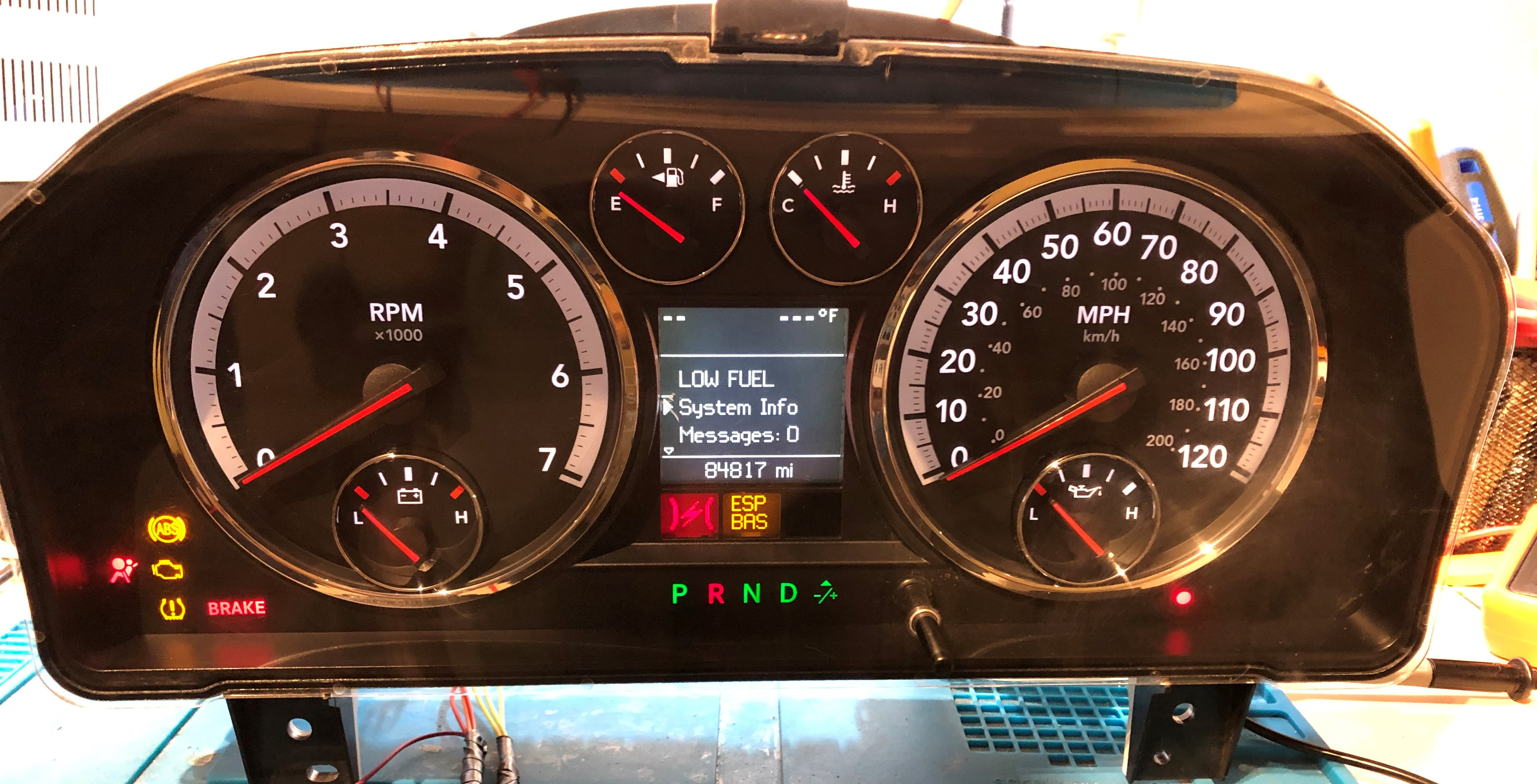 2009 DODGE RAM 1500 USED DASHBOARD INSTRUMENT CLUSTER FOR SALE (MPH)
