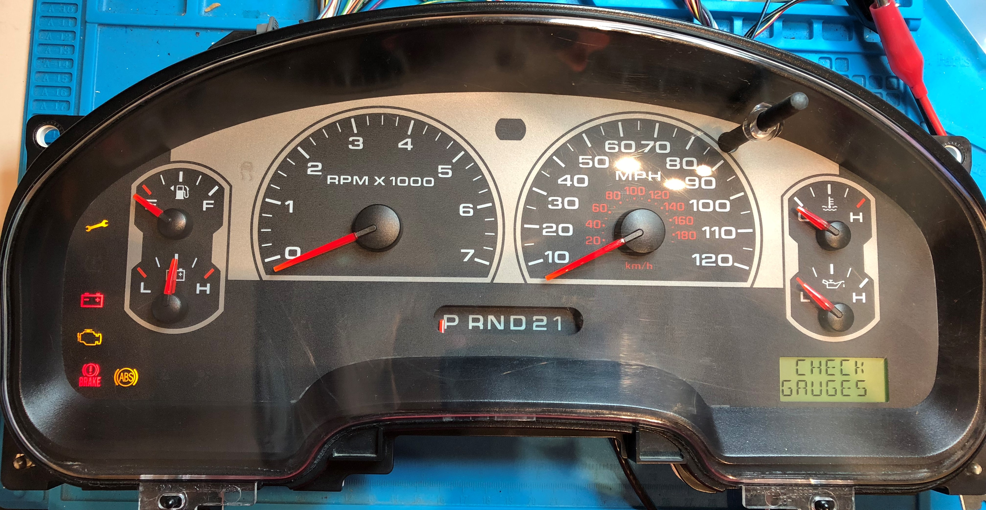 2006 FORD F150 XLT USED DASHBOARD INSTRUMENT CLUSTER FOR SALE (MPH)