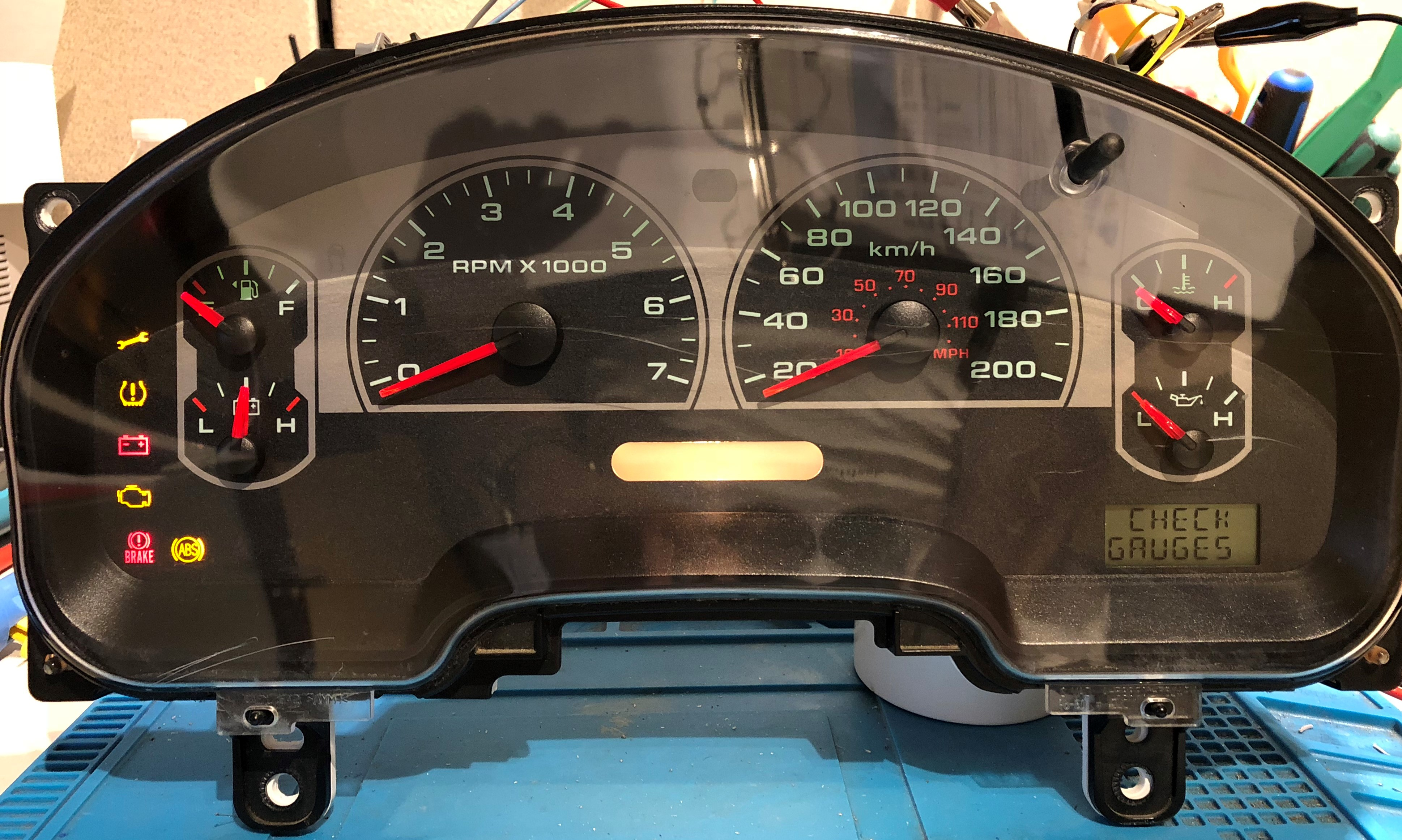 2007 FORD F150 USED DASHBOARD INSTRUMENT CLUSTER FOR SALE (MPH)